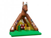 Structure gonflable Cheval filet avec obstacle